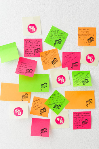 post it note guestbook