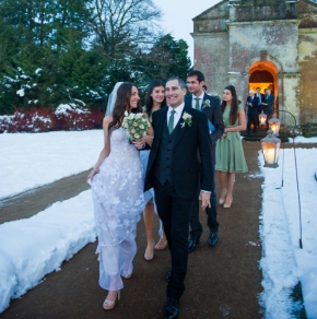 Michelle & Richard | Jewish/Celtic Winter Wedding at Babington House, Somerset