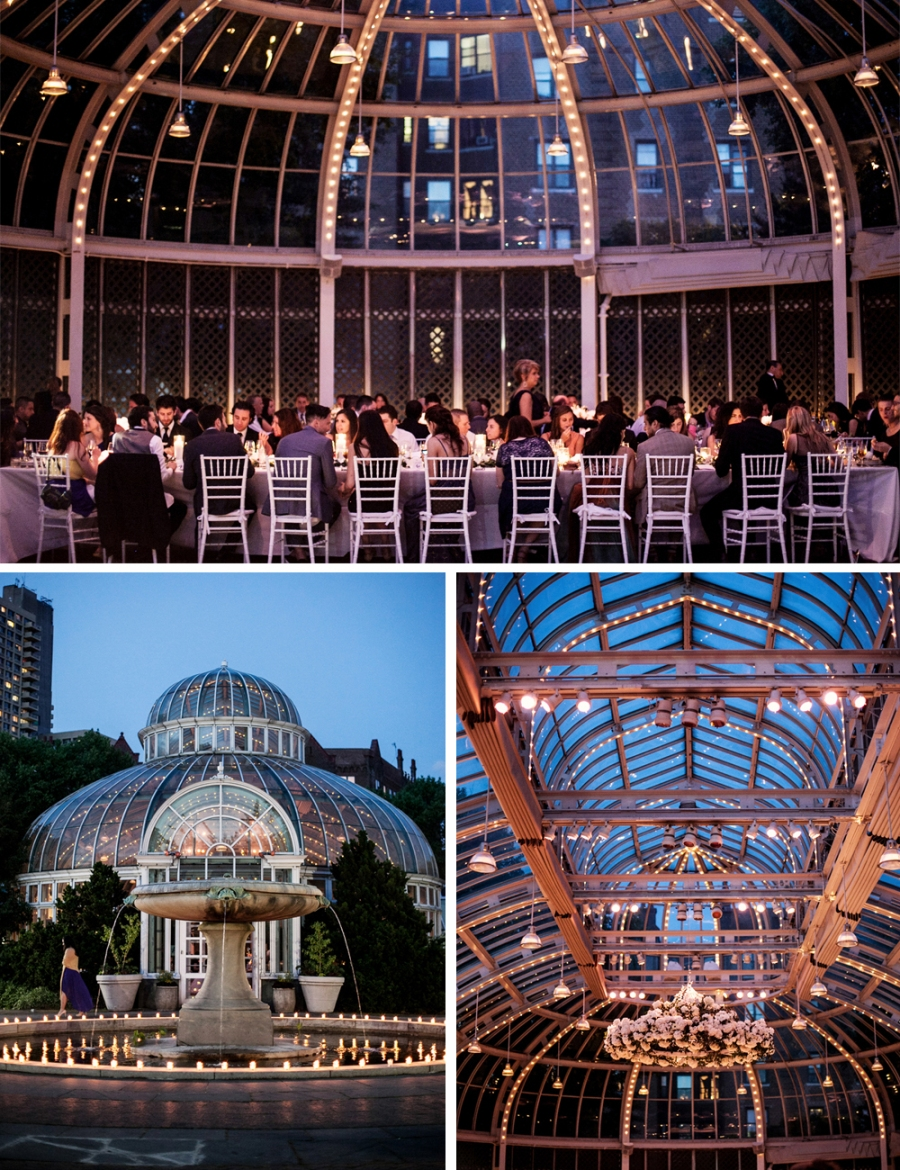 Jewish Greek Wedding at Brooklyn Botanical Garden New York The Palm House