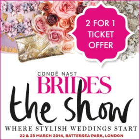 Brides The Show 2 for 1 ticket offer for all Smashing The Glass readers!