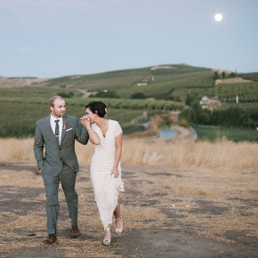 Jessica & Pete | Vineyard Jewish Wedding on a full moon night, Naches, Washington, USA