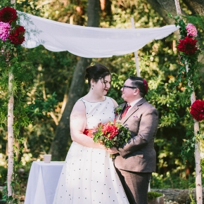 Abby & Elliot | DIY mid-century woodland Jewish wedding, Sequoia Lodge, Oakland, CA