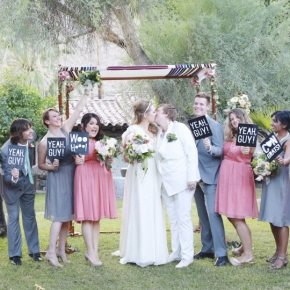 Kathleen & Liz | Super-stunning music-themed Jewish wedding at Casa Cody, Palm Springs CA