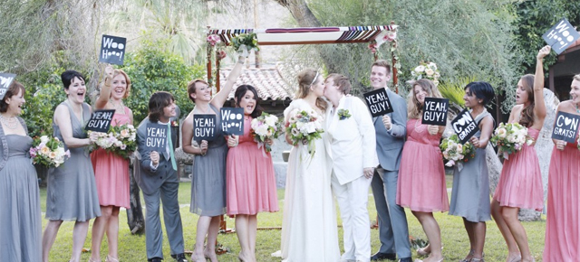 Music-themed Jewish wedding at Casa Cody Palm Springs California